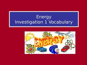Forms of Energy: LabLearner Investigation 1