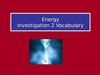 Forms of Energy: LabLearner Investigation 2