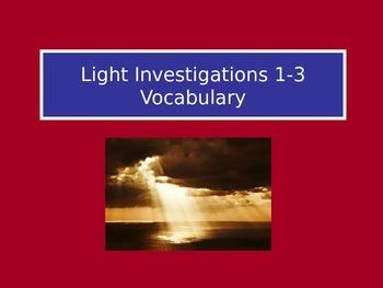 Light: LabLearner Investigations 1-3