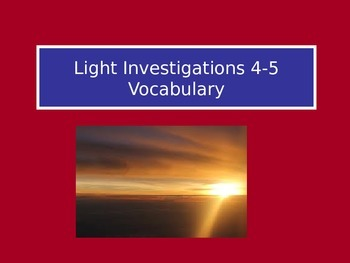 Light: LabLearner Investigations 4-5