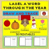 LABEL A WORD THROUGH THE YEAR