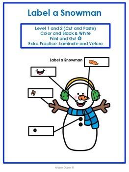 Label A Snowman