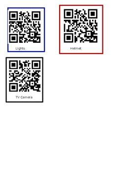 Label An Astronaut QR Codes