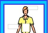 Label Body Parts- Special education, Autism, File folder