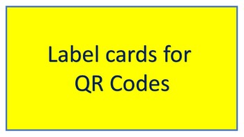 Label Cards for QR Codes
