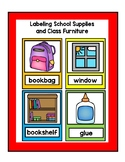 Label Common School Supplies and Furniture