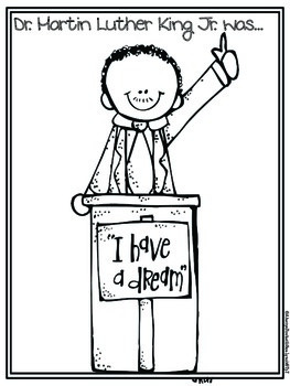 Label Dr. Martin Luther King Jr. with Character Traits Plus Writing Pages!  FREE