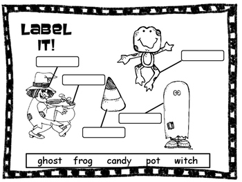 Label It!  A Halloween Picture Labeling  Activity