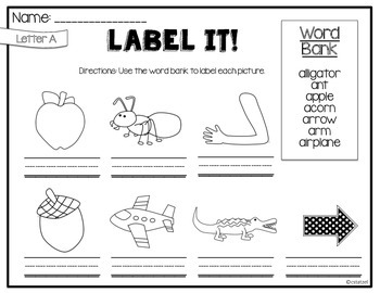 Label It A to Z! {No Prep Labeling Printables}