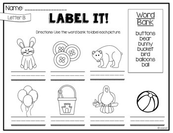 Label It A to Z! {No Prep Labeling Printables}