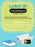 Label It! Chalkboard Book Basket Labels