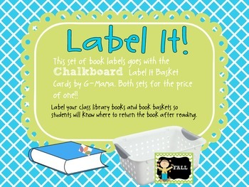 Label It! Chalkboard Book  Labels