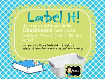 Label It! Chalkboard Book  Labels