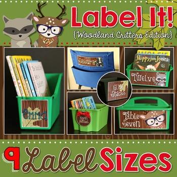 Label It! {Editable Woodland Critters Edition}