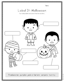 Label It: Halloween