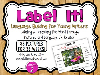 {Label It!} Language Building Activities for Young Writers, Volume 2