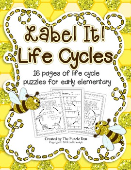 Label It! Life Cycle Puzzles for Early Elementary