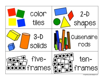 Label It!: Math Manipulatives