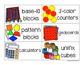 Label It!: Math Manipulatives