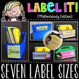 Label It! Editable Classroom Labels {Melonheadz Chevron Edition}