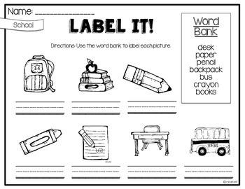 Label It! {No Prep Labeling Printables}