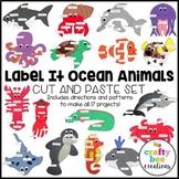 Label It Ocean Animals Crafts Bundle