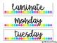 Label It! || Organizational Drawer Labels {bright dots}