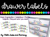 Label It! || Organizational Drawer Labels {bright dots}