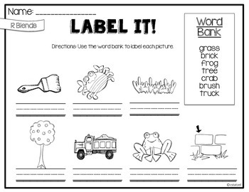 Label It! Phonics Edition {No Prep Labeling Printables}