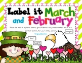 Label It! President's, Valentine's, and St Patrick's Days