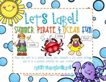 Label It! Summer, Ocean, & Pirate Fun