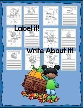 ESL Newcomers:  Label It!  Write About It Bundle!