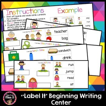 Labelling Writing Center