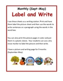 Label It Writing Station Sheets (September-May 19 pgs)