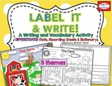 Label It & Write! Labeling Mats, Recording Sheets & Stationery
