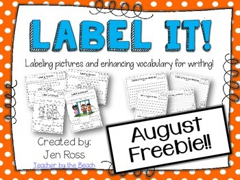 Label It and Write About it! {FREEBIE}