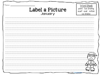 Label It and Write About it! {January}