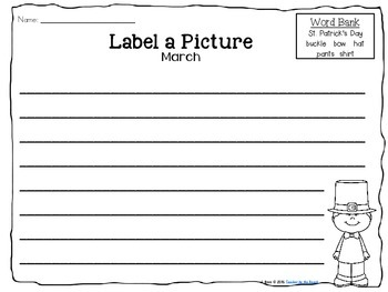 Label It and Write About it! {March}