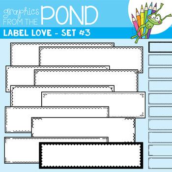 Label Love Set #3 {Detail Edged Header Labels}