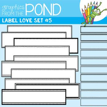 Label Love Set #5 {Detail Edged Header Labels}