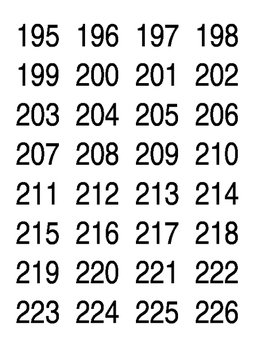 Label Numbers 101-370