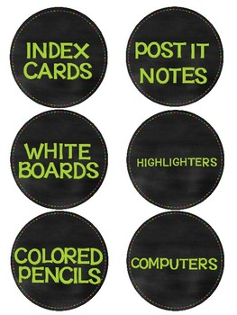 Label Packet for Classroom Organization