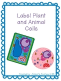 Label Plant and Animal Cells Freebie with Answer Key