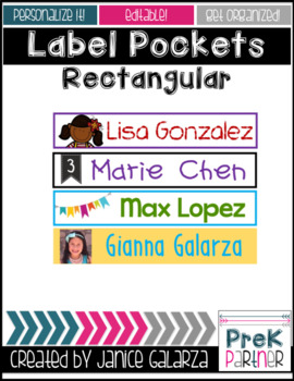 Rectangular Label Pockets Templates from Target {{EDITABLE}}