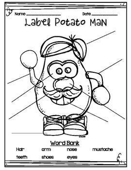 Label Potato Man
