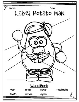 Label Potato Man