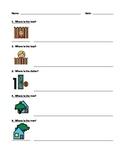 Label Prepositions / Positions Worksheet