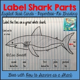 Shark Week -Label Parts Digital Task Cards Inspired by How to Survive as a Shark
