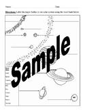 Label Solar System Worksheet