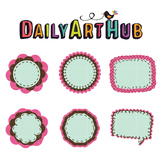 Label Stickers Clip Art - Great for Art Class Projects!
